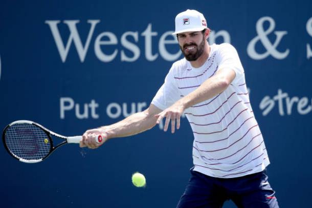 Opelka's forehand will be one of the key shots in the match/Photo: Matthew Stockman/Getty Images