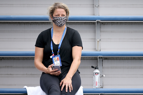 Clijsters was seen in the stands during several Western & Southern Open (Image: Matthew Stockman)