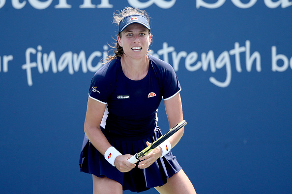 Konta broke three times and was not broken once (Image: Matthew Stockman)