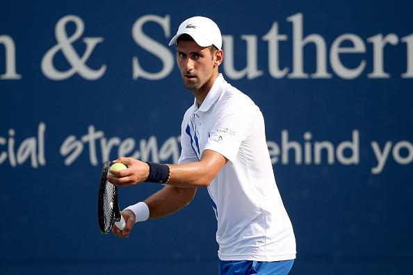 Djokovic did not lose serve once against Sandgren (Image: Matthew Stockman)