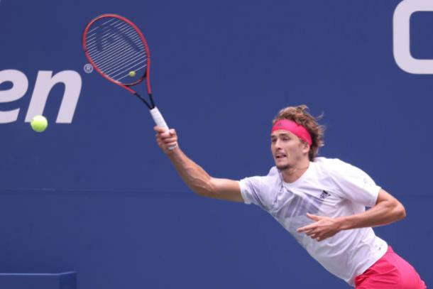 Zverev took his chances when they arose to claim victory/Photo: Al Bello