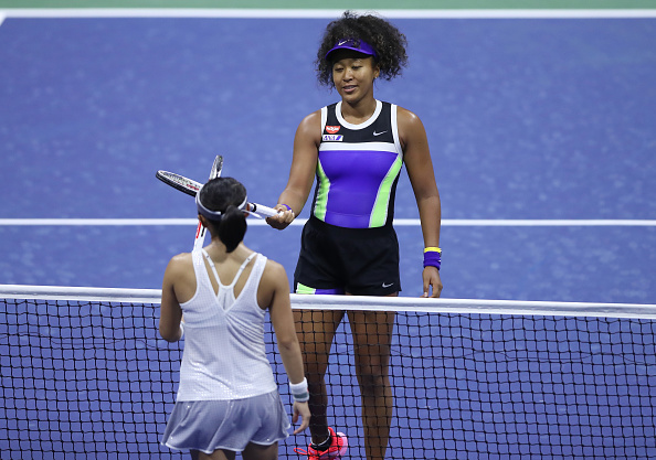 Osaka beat her compatriot in the first round (Image: Matthew Stockman)
