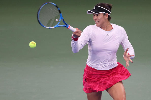 Muguruza did not drop serve in the second set (Image: Al Bello)