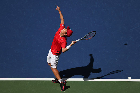 Nishioka lost from two sets up (Image: Al Bello)