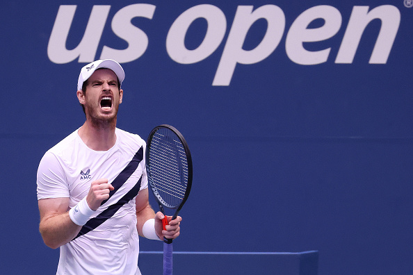 Murray celebrates his opening round victory (Image: Al Bello)