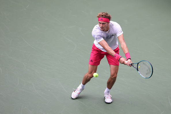 Zverev in action during his second round match at the US Open (Image: Al Bello)