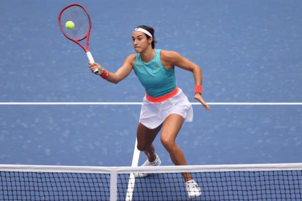 Garcia broke Pliskova three of her first four service games/Photo: Al Bello/Getty Images