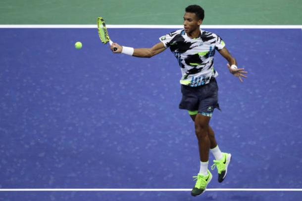 Auger-Aliassime played a near-perfect match/Photo: Matthew Stockman/Getty Images