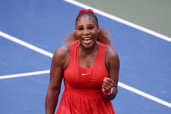 Williams following her third round win (Image: Al Bello)