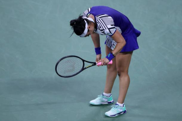 Jabeur outplayed Kenin on the stat sheet, but didn't play the big points well/Photo: Matthew Stockman/Getty Images