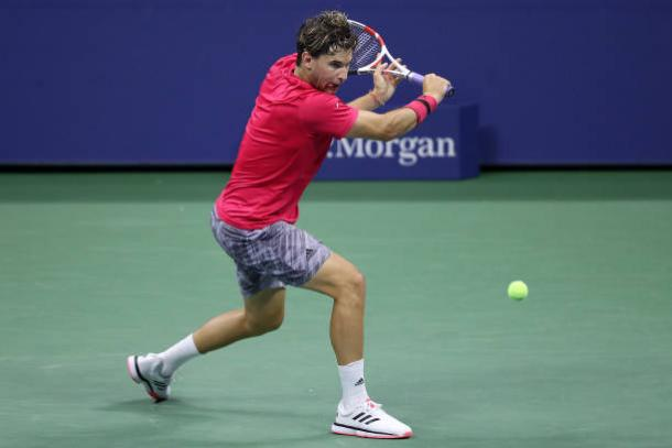 Thiem's backhand could turn out to be the decisive shot in the match/Photo: Matthew Stockman/Getty Images
