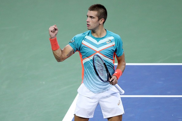 Coric is in his first major quarterfinal (Image: Matthew Stockman)