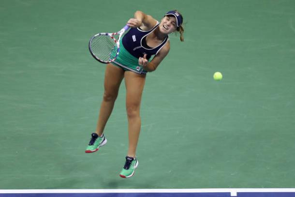 Kenin will need to protect her serve well/Photo: Matthew Stockman/Getty Images