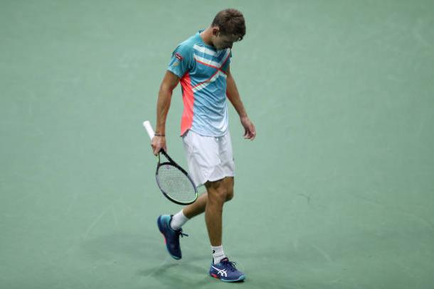 It was a difficult night for de Minaur/Photo: Matthew Stockman/Getty Images