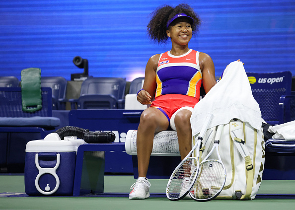 Osaka all smiles after reaching her third career Grand Slam final (Photo: Al Bello)