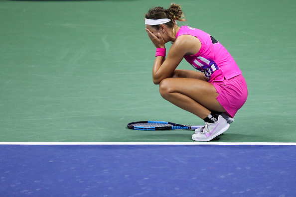 Azarenka reacts to her first US Open final in seven years (Photo: Matthew Stockman)