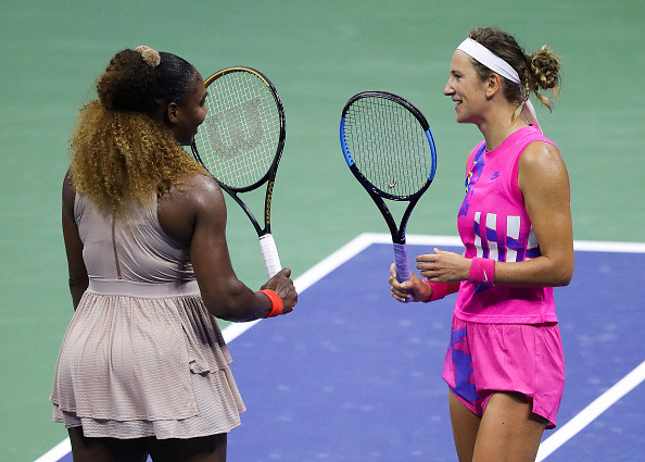 Williams congratulates Azarenka after the match (Image: Matthew Stockman)
