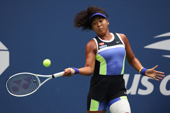 Osaka was beginning to work the forehand in set two (Photo: Matthew Stockman)