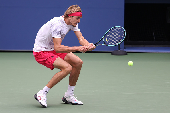 Zverev upped his winner to unforced error tally in the first set (Photo: Al Bello)