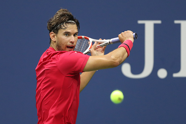 The slice backhand was key for Thiem to comeback into the match (Photo: Matthew Stockman)