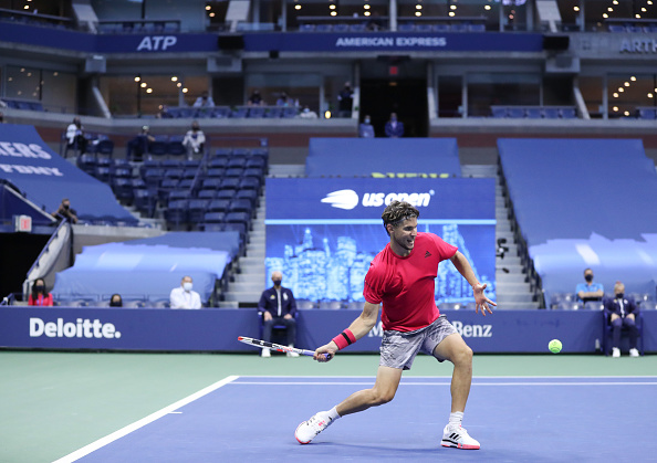 Thiem in action at the US Open (Image: Matthew Stockman)
