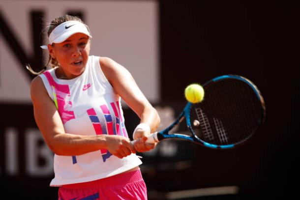 Anisimova is looking to dominate with her backhand/Photo: Clive Brunskill/Getty Images