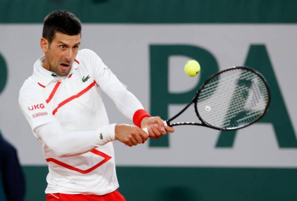 Djokovic was firing on all cylinders during his first-round match/Photo: Julian Finney/Getty Images