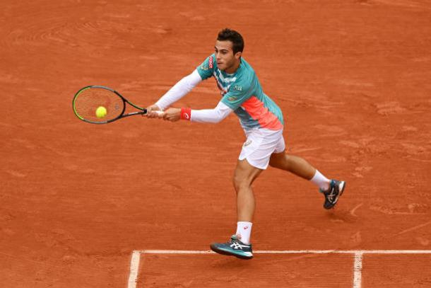 Gaston pulled ahead after two excellent sets/Photo: Shaun Botterill/Getty Images
