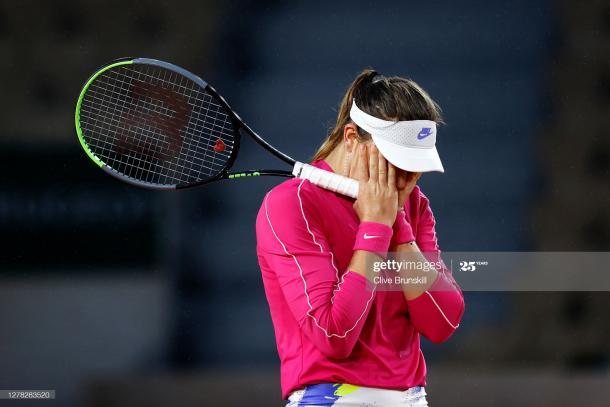 Las lágrimas de Paula al término del encuentro | Foto: Getty Images