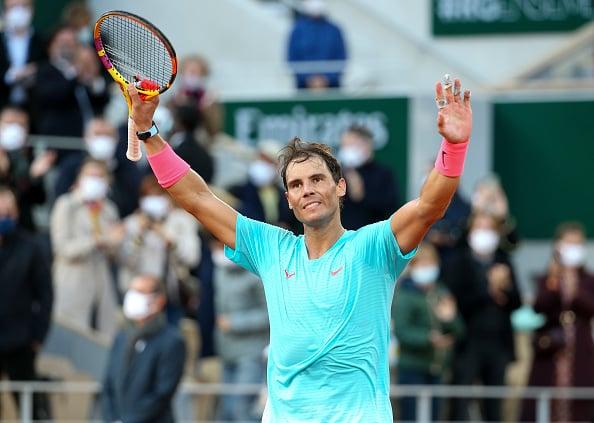 Nadal celebrates his semifinal win over Diego Schwartzman (Image: John Berry)