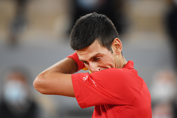 Djokovic was frustrated throughout the match (Shaun Botterill)