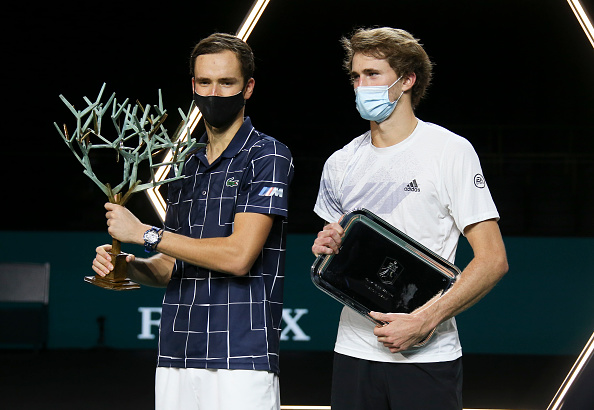 Medvedev and Zverev contested the Paris Masters final (Image: Jean Catuffe)