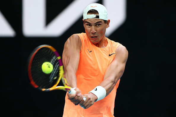 Nadal hopes his back can hold up for these two weeks (Mark Metcalfe/Getty Images)