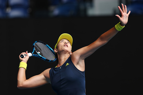 Muguruza grabbed the momentum after breaking back early in set one (Cameron Spencer/Getty Images)