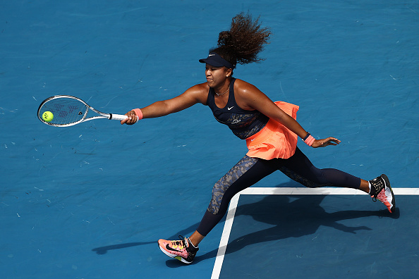 Osaka's baseline game dictated a lot of the opening set (Matt King/Getty Images)