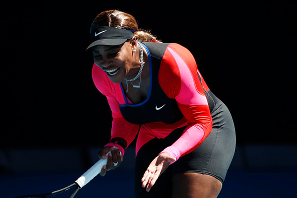 Serena was frustrated with her play in the opening set (Daniel Pockett/Getty Images)