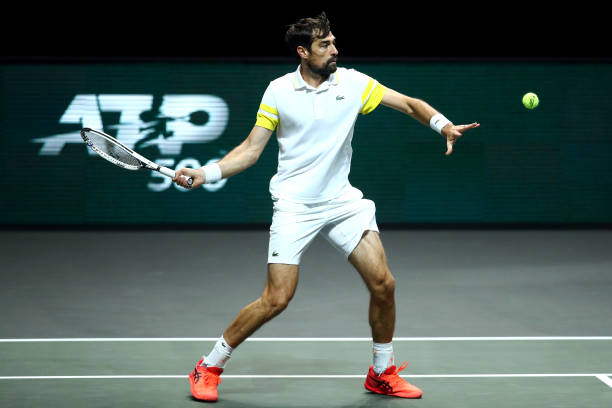 Chardy plays a forehand during his second-round victory/Photo: Dean MouhtaropoulosGetty Images