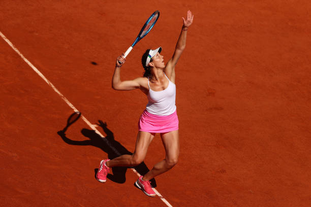 Tig tested Osaka on opening day in Paris/Photo: Julien Finney/Getty Images