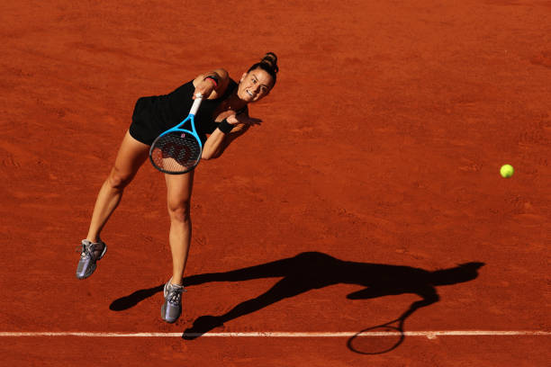 Strong serving and aggressive play pulled Skkari level/Photo: Clive Brunskill/Getty Images