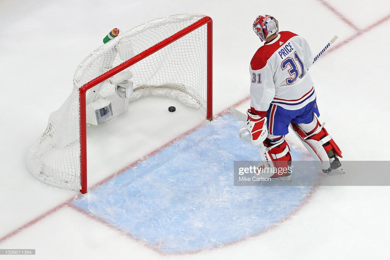 It was a tough night for Carey Price in his Stanley Cup Finals debut/Photo: Mike Carlson/Getty Images