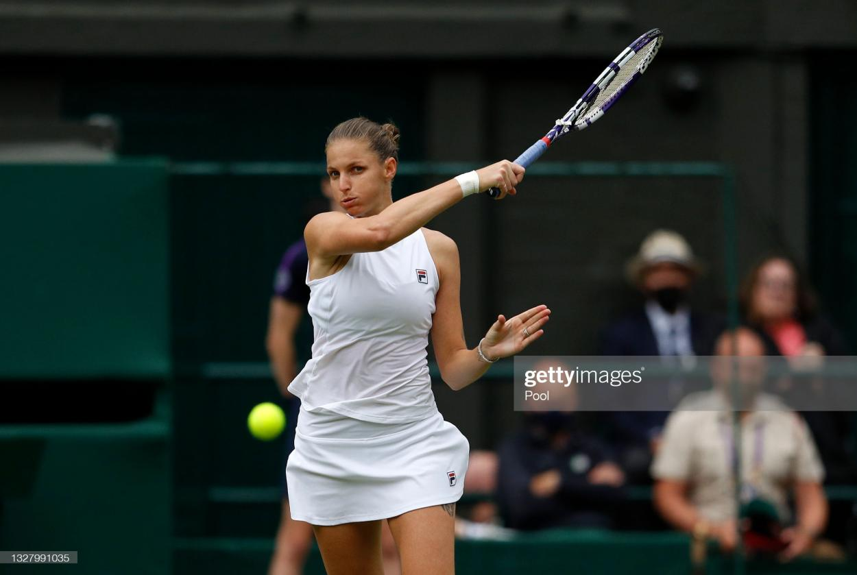 Pliskova battled back from the brink to force a deciding set/Photo: Peter Nicholls - Pool/Getty Images