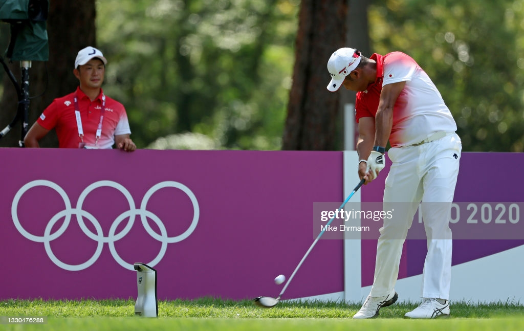 Matsuyama plays a practice round at the Kasumigaseki Country Club in preparation for the Olympic golf tournament/Photo: Mike Ehrmann/Getty Images