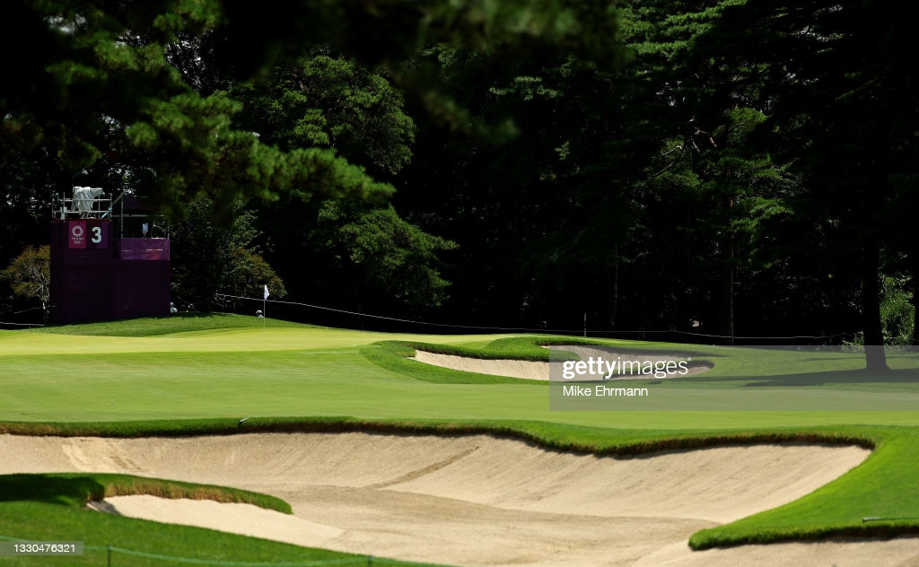 A view of the third hole at the Kasumigaseki Country Club/Photo: Mike Ehrmann/Getty Images