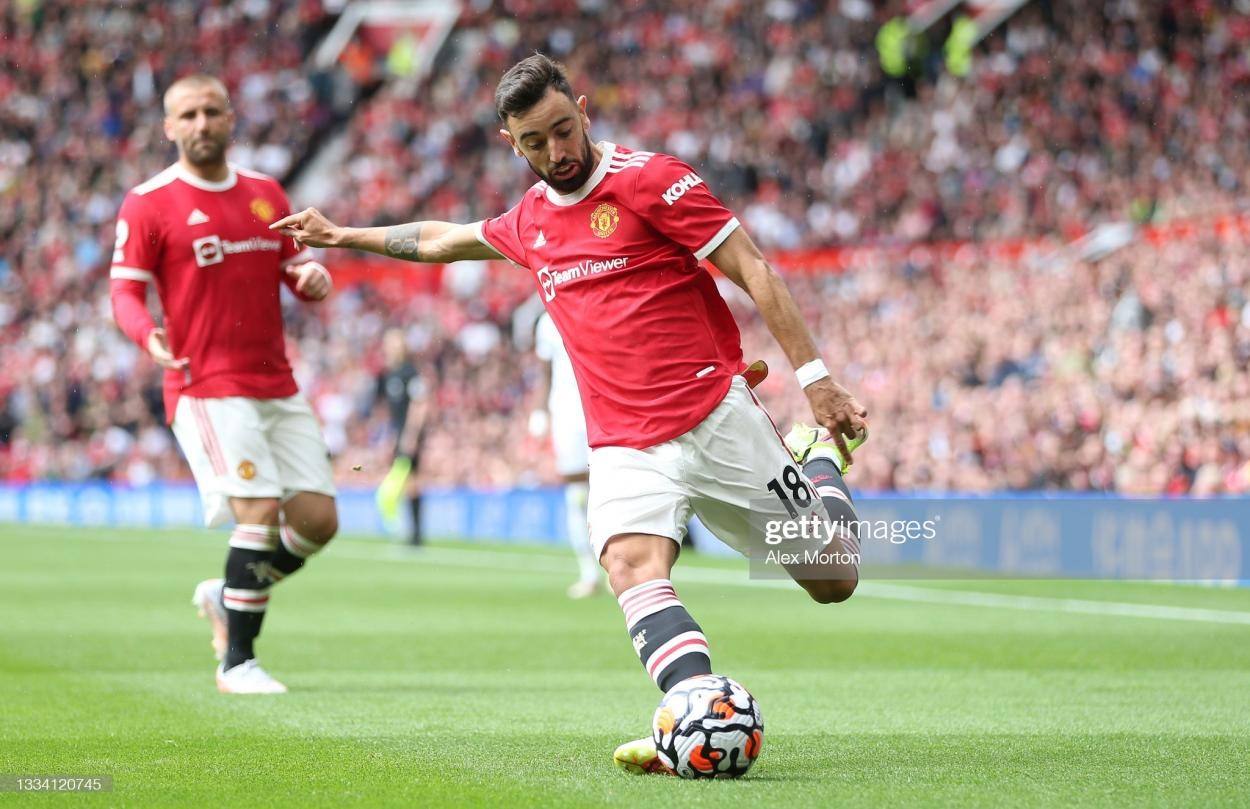 Getty/Alex Morton - <strong><a href='https://vavel.com/en/football/2021/08/19/manchester-united/1082760-is-masongreenwood-finally-ready-to-lead-the-line-for-manchester-united.html'>Bruno Fernandes</a></strong> is MUFC's key player