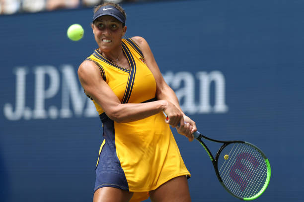 Keys made errors at crucial points in the match, which led to her defeat/Photo: Elsa/Getty Images