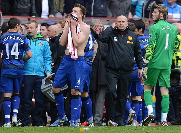 Los jugadores del Manchester United esperaban el resultado del City / Foto: Gettyimages