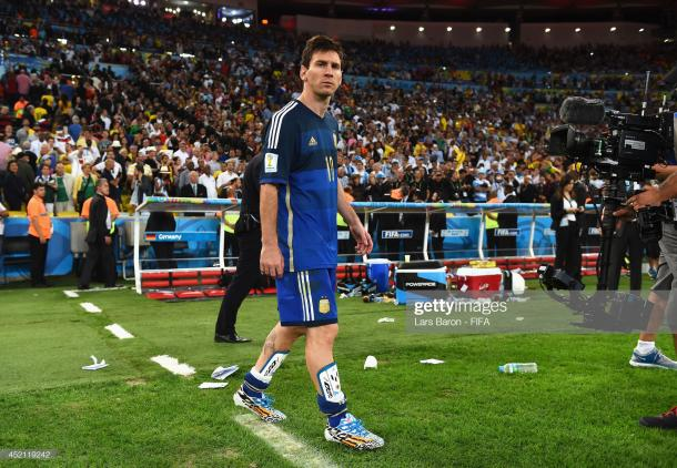Messi después de caer en la final en el Maracaná, hoy, busca una revancha / Foto: Getty Images