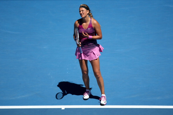 The Belarusian's winning run in Melbourne was snapped by Agnieszka Radwanska (Image: Michael Dodge)