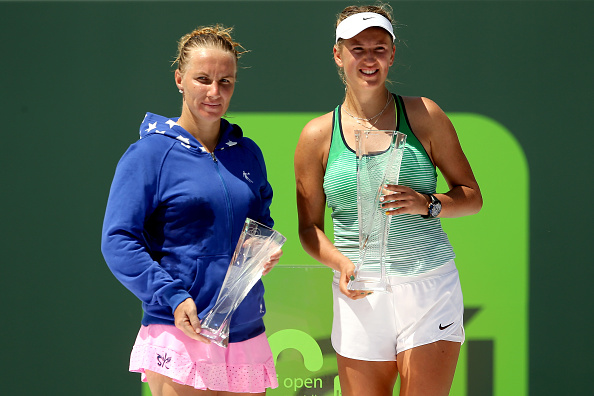 Azarenka beat Svetlana Kuznetsova to win the Miami Open final in 2016 (Image: Matthew Stockman)