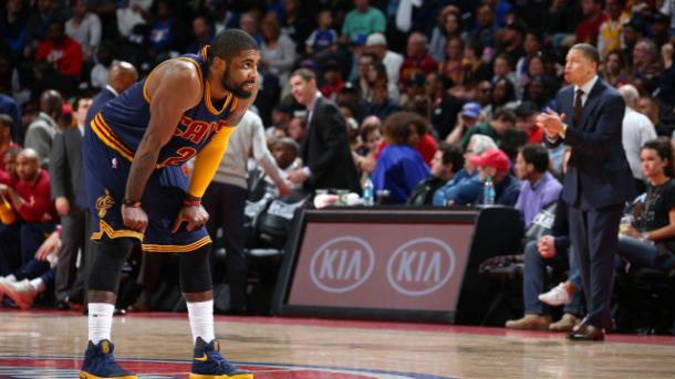 Irving's defense against Lowry could be troubling for Cleveland (Nathaniel S. Butler/NBAE via Getty Images)